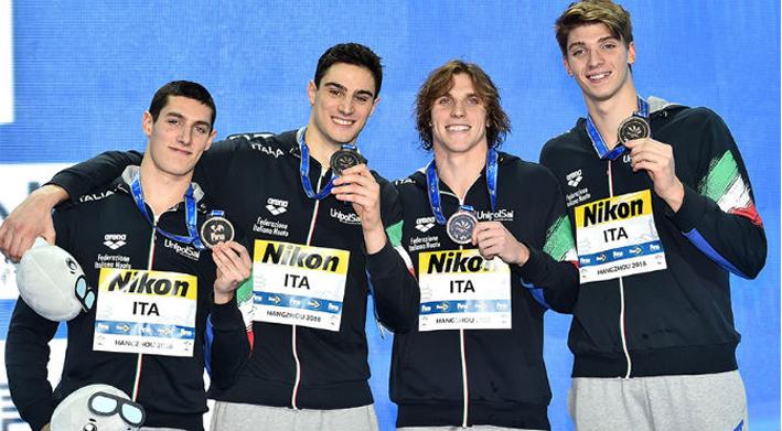 Miressi il primo bronzo mondiale da Hangzhou arriva con la 4×50 stile libero