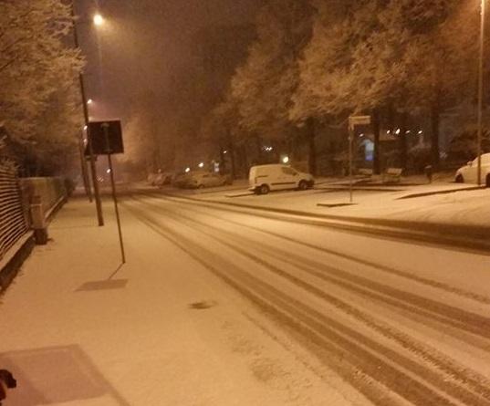 CINTURA – Nevicata imbianca l'hinterland: incidente a Moncalieri