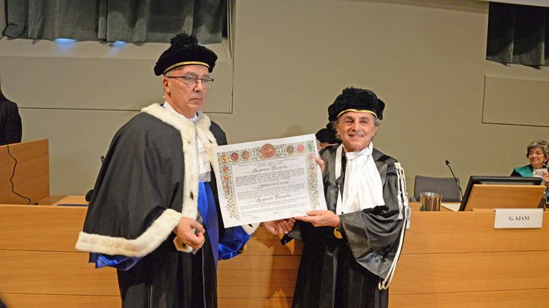 Laurea honoris causa ad Ugo Nespolo
