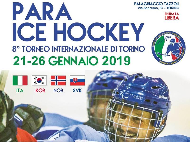 Torino on Ice: quattro nazioni si sfidano all'8° Torneo internazionale di Para-Ice Hockey