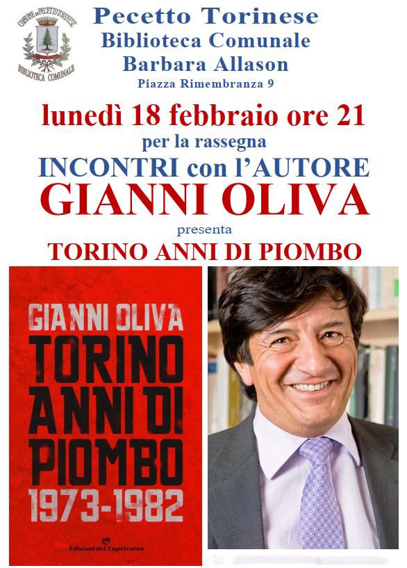 Gianni Oliva alla biblioteca di Pecetto