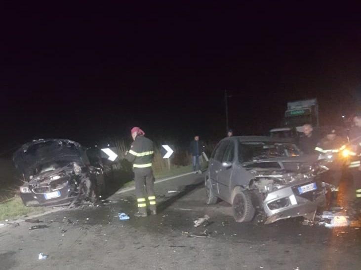 CARIGNANO – Violento incidente sulla provinciale: due feriti