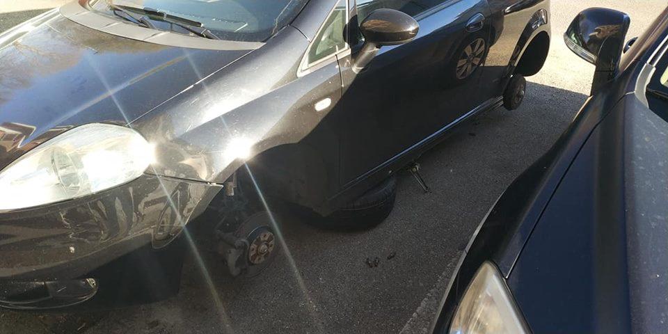 NICHELINO – Auto preda dei ladri di gomme