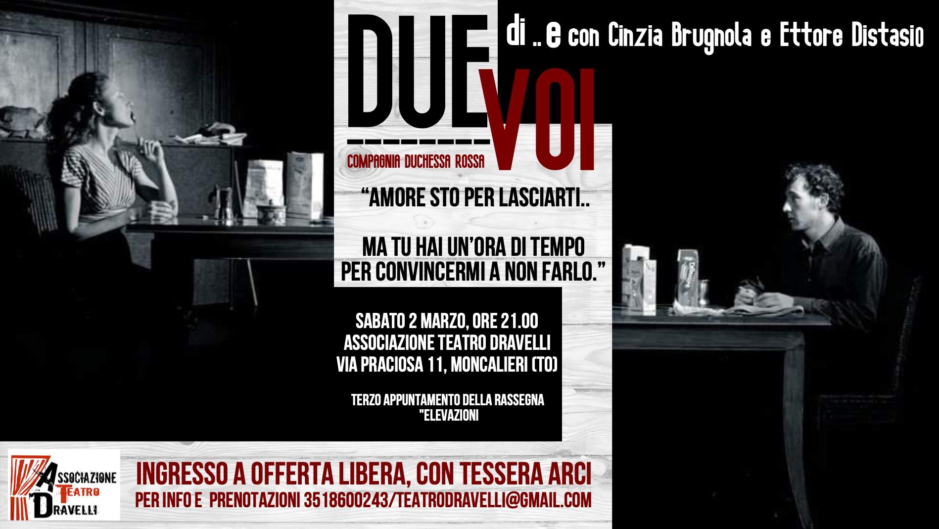 MONCALIERI – La crisi di coppia al teatro Dravelli