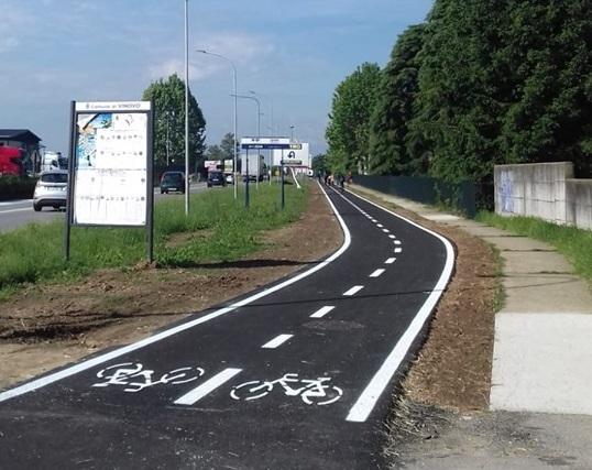 VINOVO – Aperta al pubblico la pista ciclabile di Garino