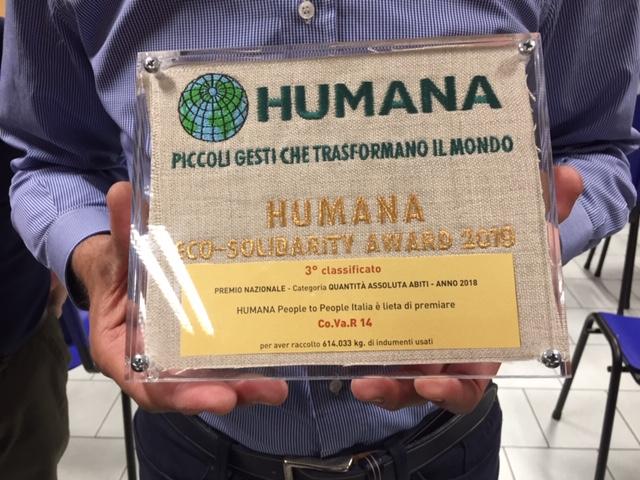 VINOVO – Consegnato il premio Humana al Covar