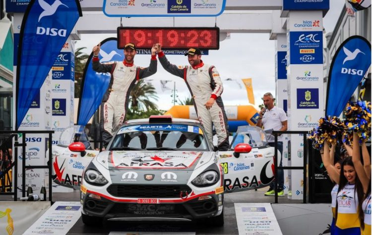 L'Abarth 124 rally esordisce con successo nel Rally Islas Canarias