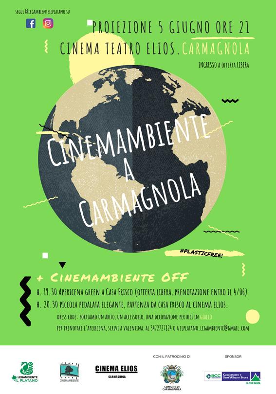 Mercoledì 5 giugno CinemAmbiente arriva a Carmagnola, alle 21 all'Elios