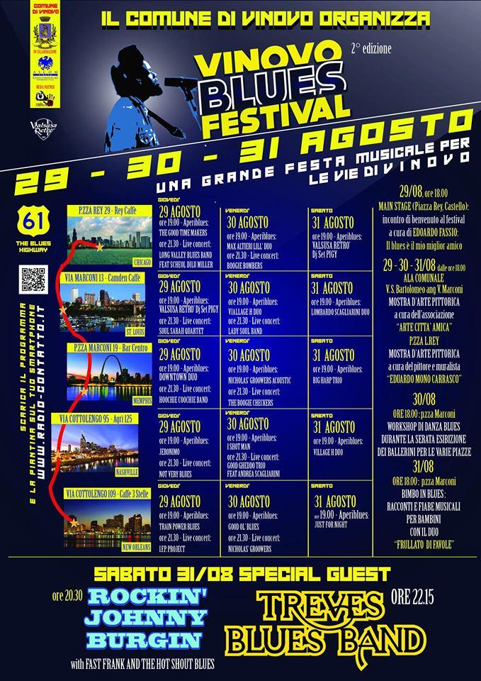VINOVO – Questa sera parte il Blues Festival