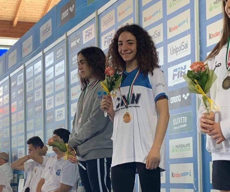 NICHELINO – Giulia Vetrano campionessa giovanile di nuoto