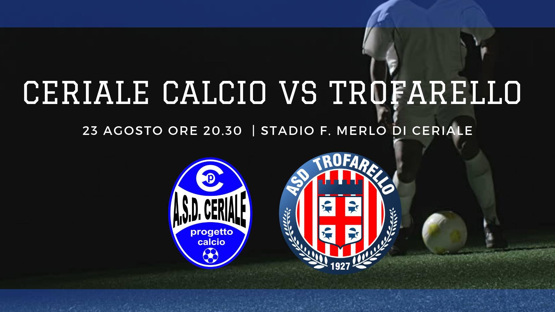 TROFARELLO – Amichevole della squadra di calcio contro il Ceriale