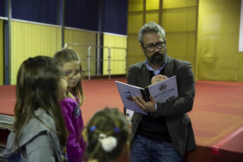 Anselmo Roveda, accompagna gli scolari carmagnolesi sulle orme di Sandokan e del Corsaro Nero