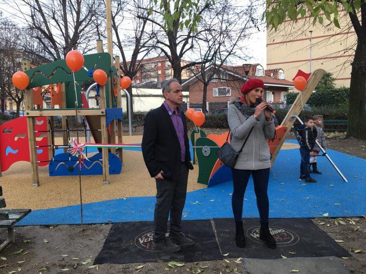 NICHELINO – Inaugurata area gioco bimbi al quartiere Crociera