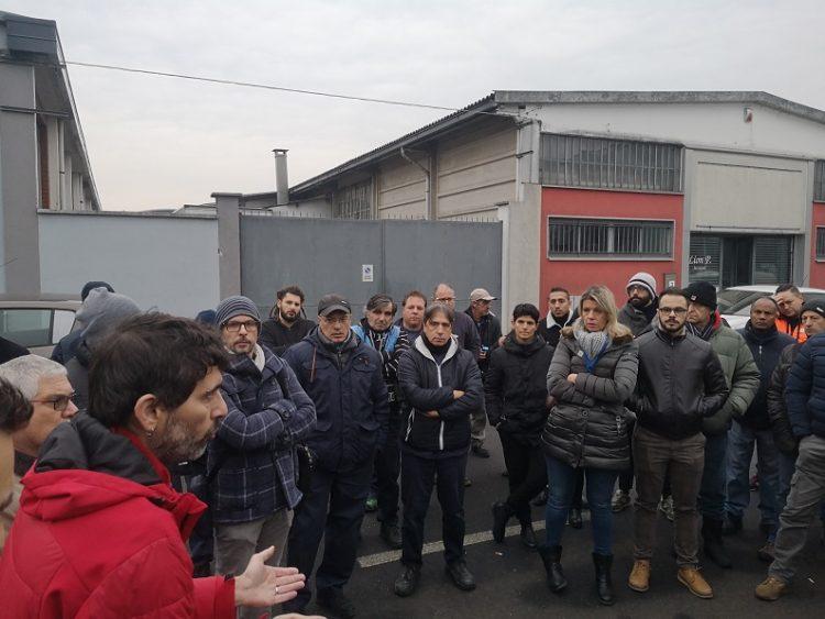 MONCALIERI – Presidio dei lavoratori della Alpitel