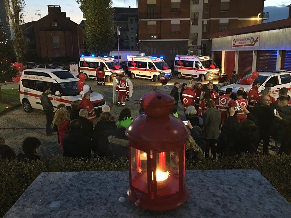 NICHELINO – Inaugurati i cinque nuovi mezzi della Croce Rossa