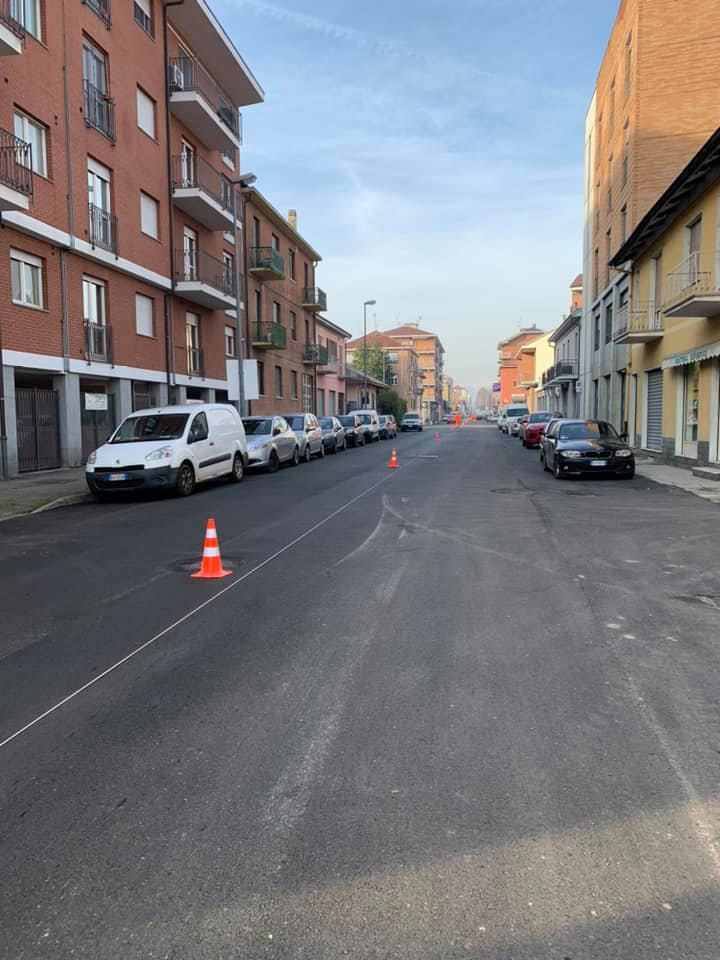 MONCALIERI – Partita l'asfaltatura di via Stupinigi