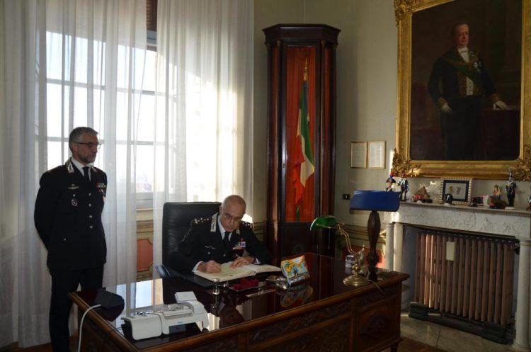 MONCALIERI – Al Castello, visita del Generale dei Carabinieri Giovanni Nistri