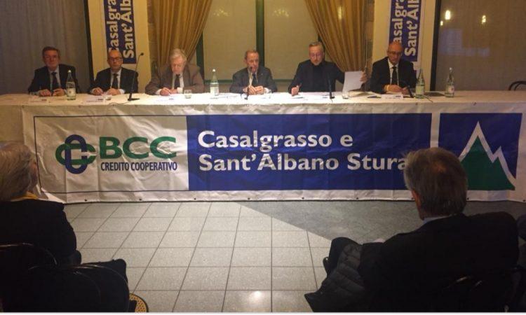 CARMAGNOLA – La banca di Casalgrasso e S.Albano Stura valutata tra le più solide d'Italia