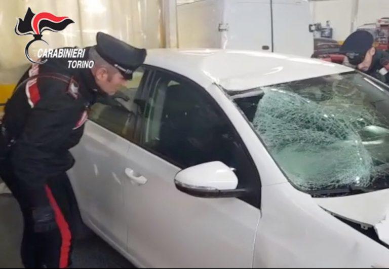 Fermato dai carabinieri il pirata della strada che ha investito mortalmente un uomo a Stupinigi il 19 gennaio