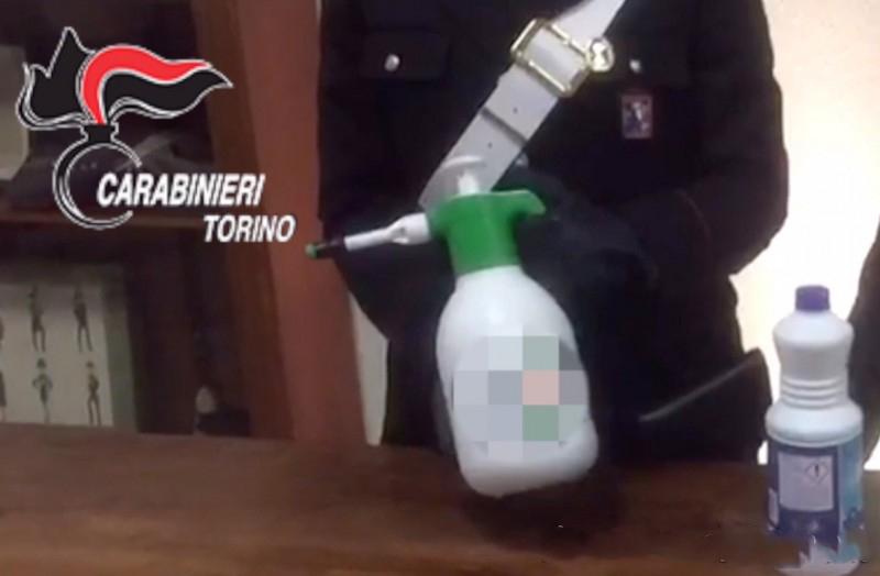 Presa la banda dell'ammoniaca