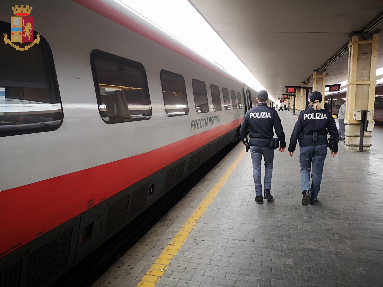 Intensa attività per la Polfer nelle stazioni e sui treni