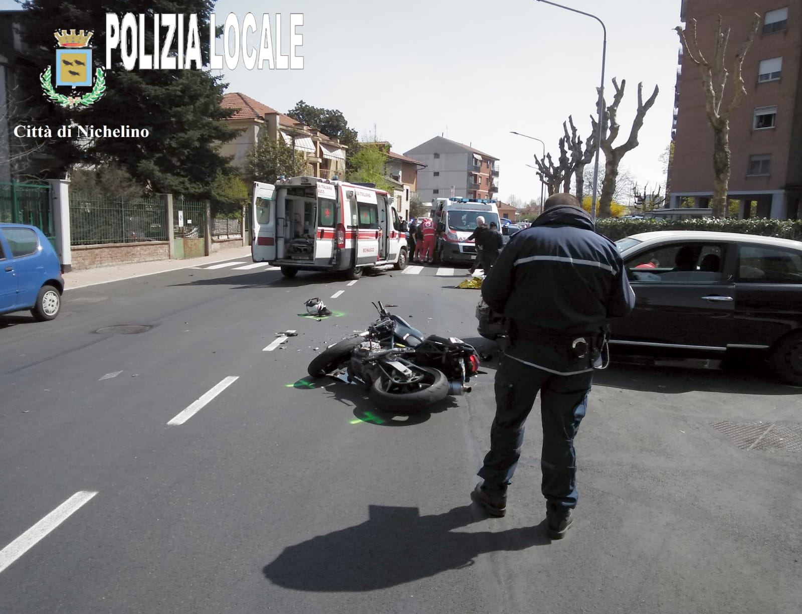 NICHELINO – Grave incidente in via Cacciatori