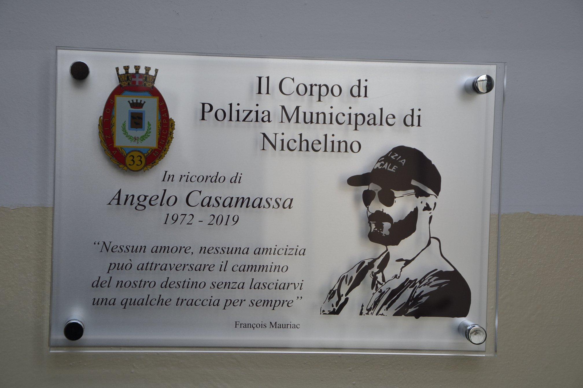 NICHELINO – Una targa per ricordare Angelo Casamassa