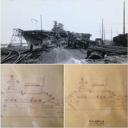 Il Museo Civico Navale di Carmagnola salpa sul web con il disegno originale della portaerei Aquila